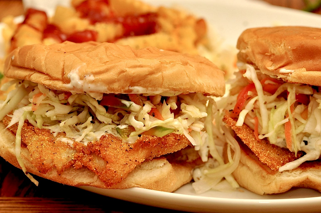 Lifeboat special fried fish sandwich food republic for Best fish sandwich near me