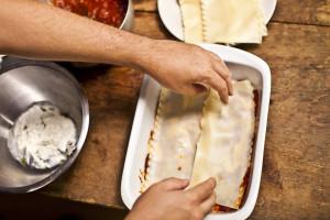 add lasagna sheets