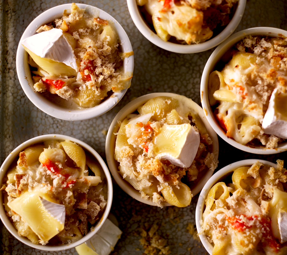 Macaroni And Brie With Crab Recipe Food Republic