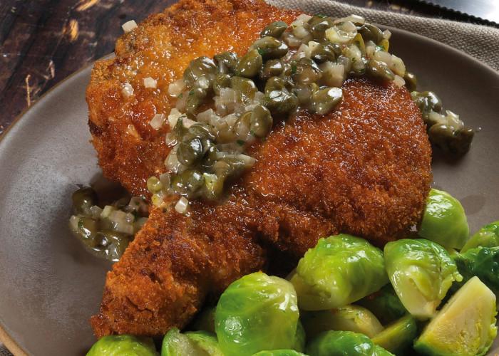 Sage-Garlic-Brined Pork Chops Recipe