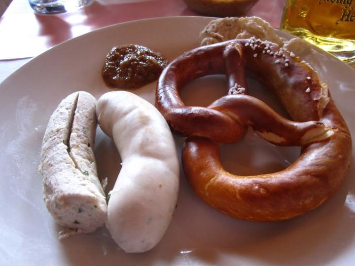 german weisswurst sausage