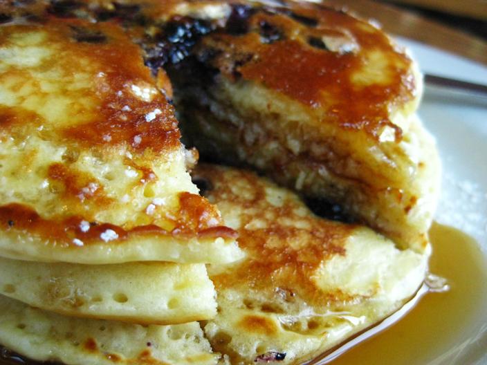 Easy blueberry pancakes recipe food republic ccuart Choice Image