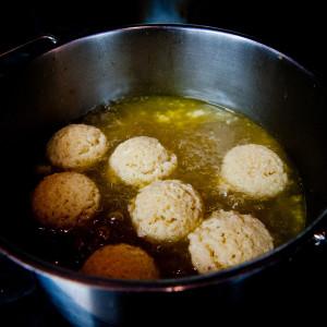 Finish cooking matzo balls