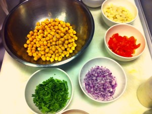 lay out ingredients