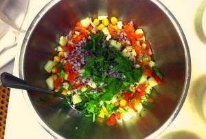 combine ingredients