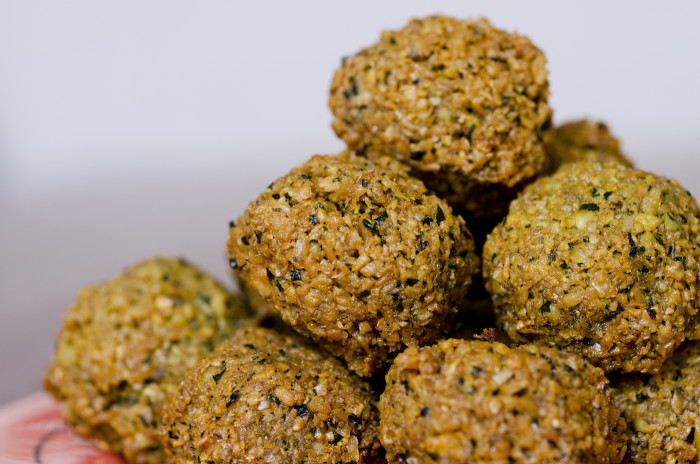falafel with fava beans