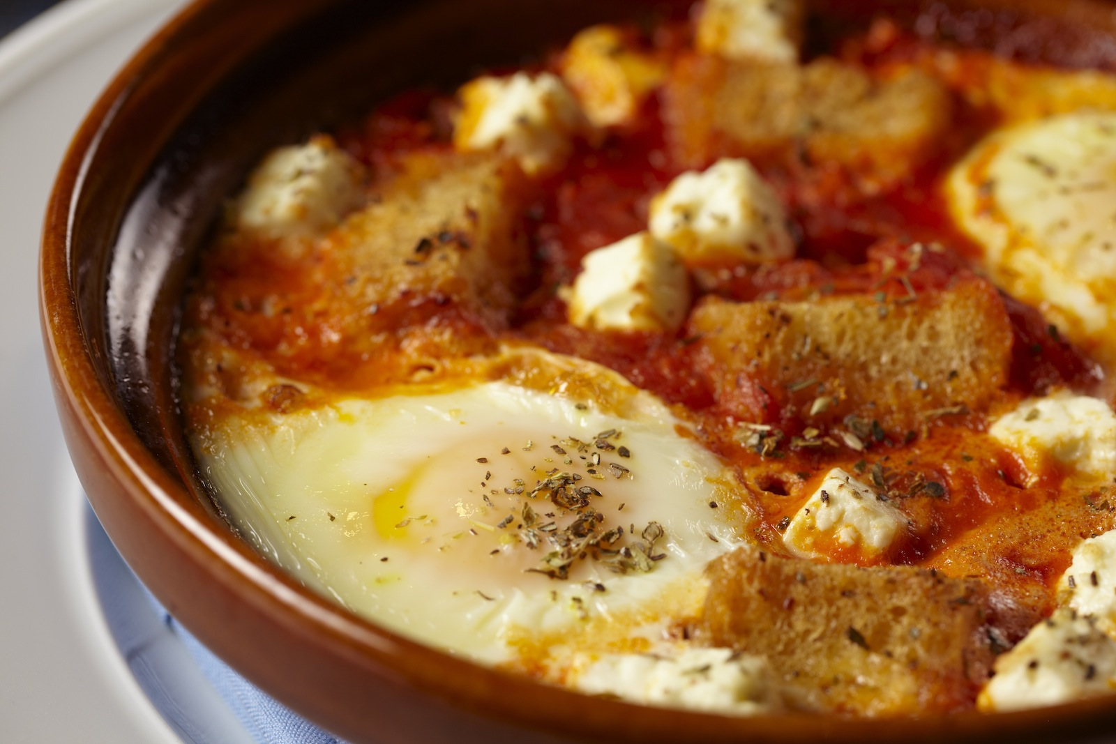 Baked Eggs With Tomato And Feta Recipe - Food Republic