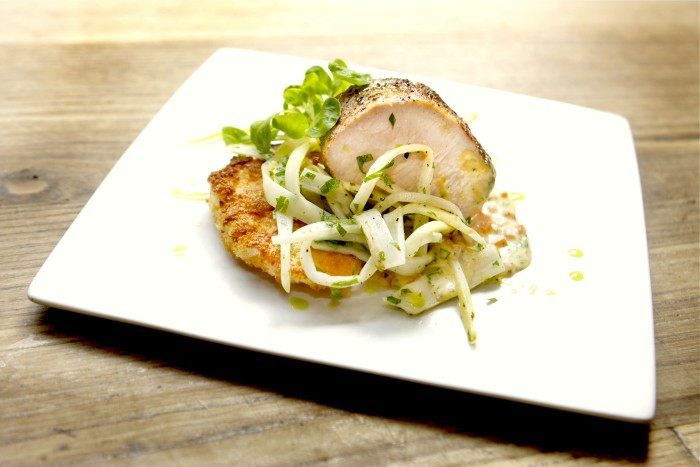 Olive Oil-Poached Veal with Lobster Schnitzel Recipe