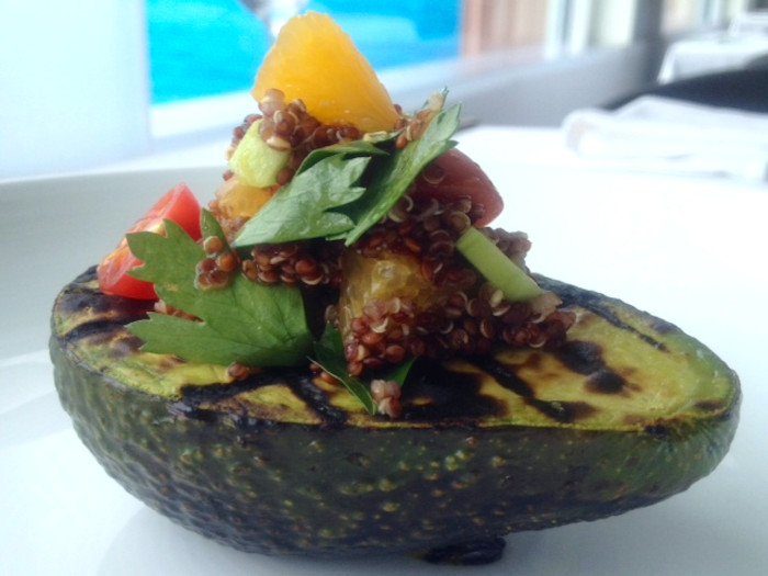 Grilled Avocado with Quinoa Salad Recipe
