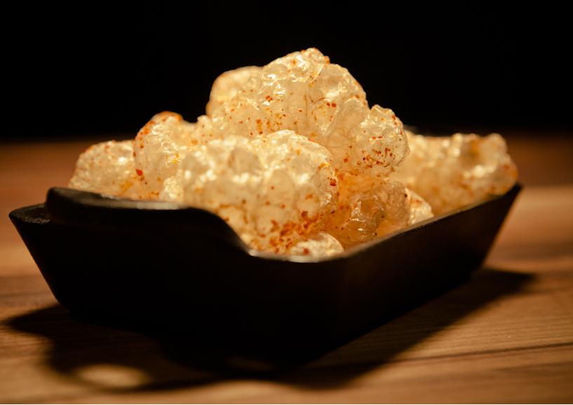 deep fryer Crunchy Pig Skin Popcorn Recipe
