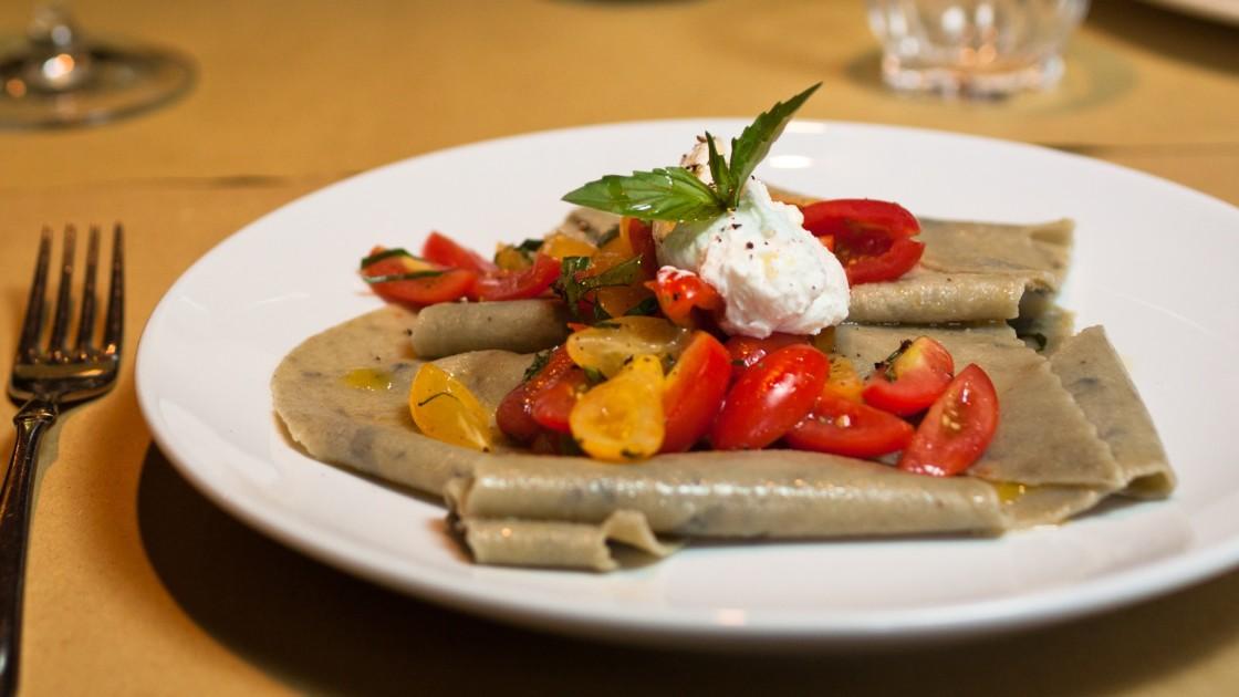 28 vegetarian italian recipes for dinner food republic eggplant maltagliati alla nuova checca recipe forumfinder Choice Image
