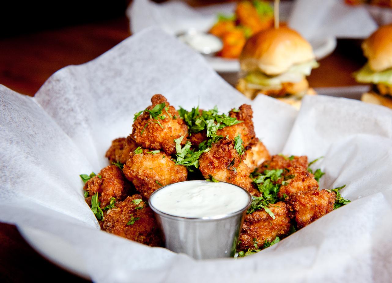 Chipotle popcorn chicken recipe food republic for Bar food ideas recipes