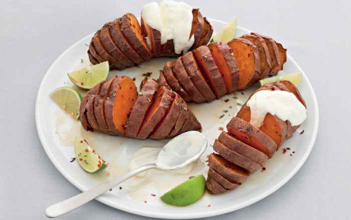 Change up your hasselback game with these sweet potatoes.