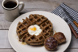 toad in the hole waffle