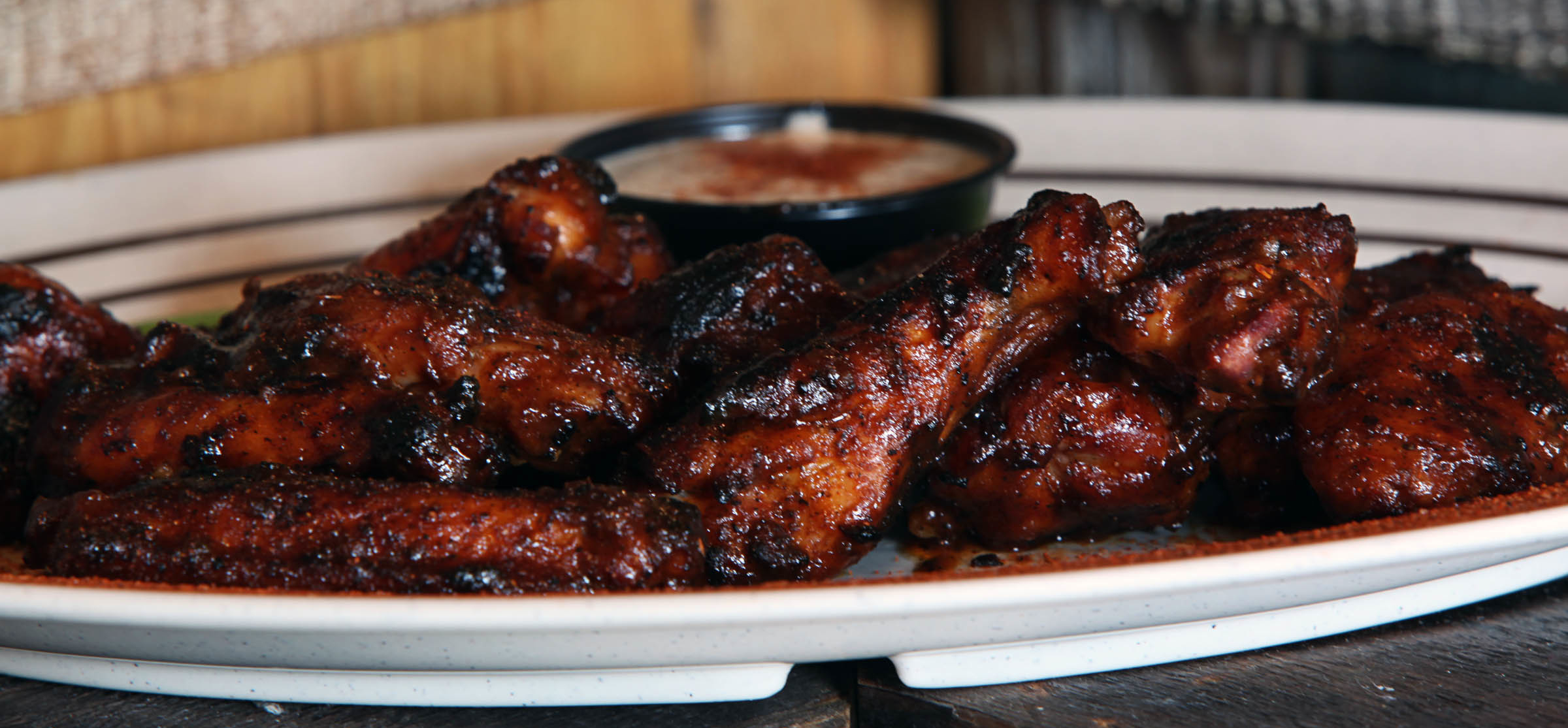 Home Schooled Bbq Chicken Wings Recipe Food Republic