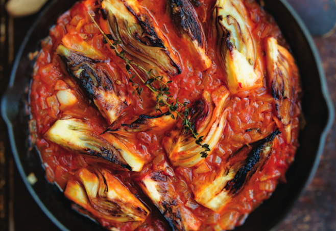 Pair these braised bulbs with either seafood or rice. It goes nicely with both.