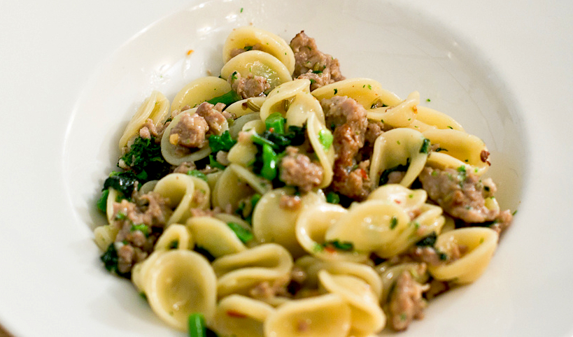 Orecchiette with Homemade Fennel Sausage and Swiss Chard Recipe - Food ...