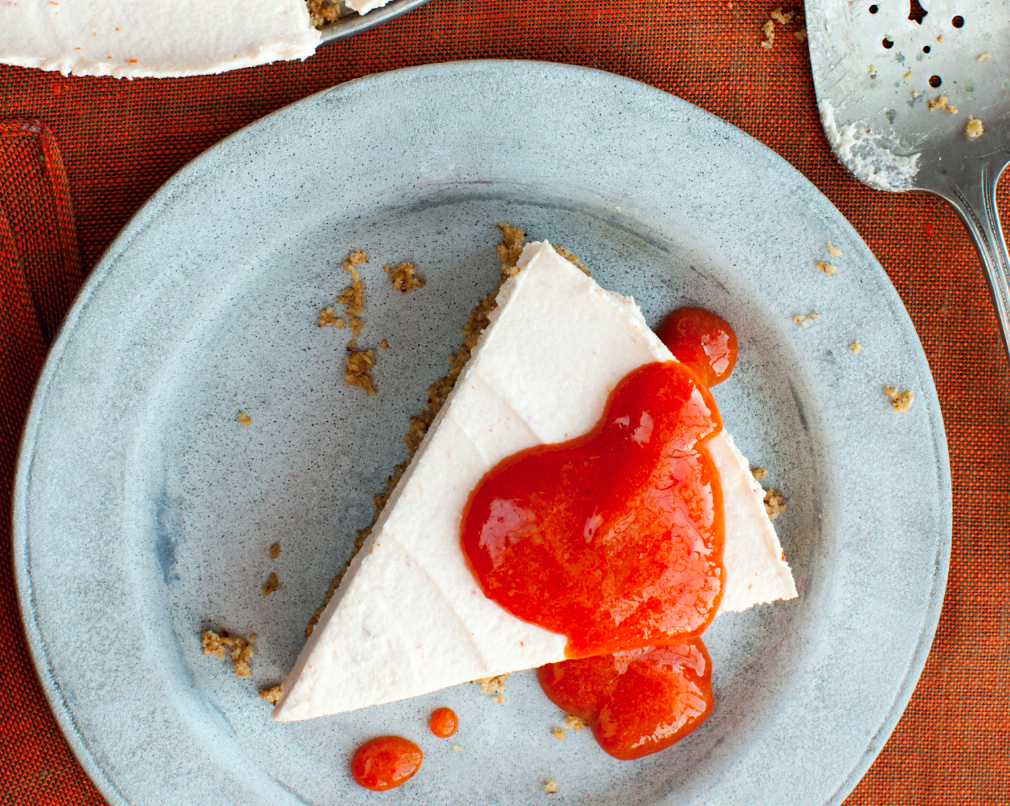 Goat Cheese Cheesecake no-bake persimmon and goat cheese cheesecake recipe - food republic