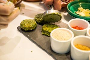 Form the falafel