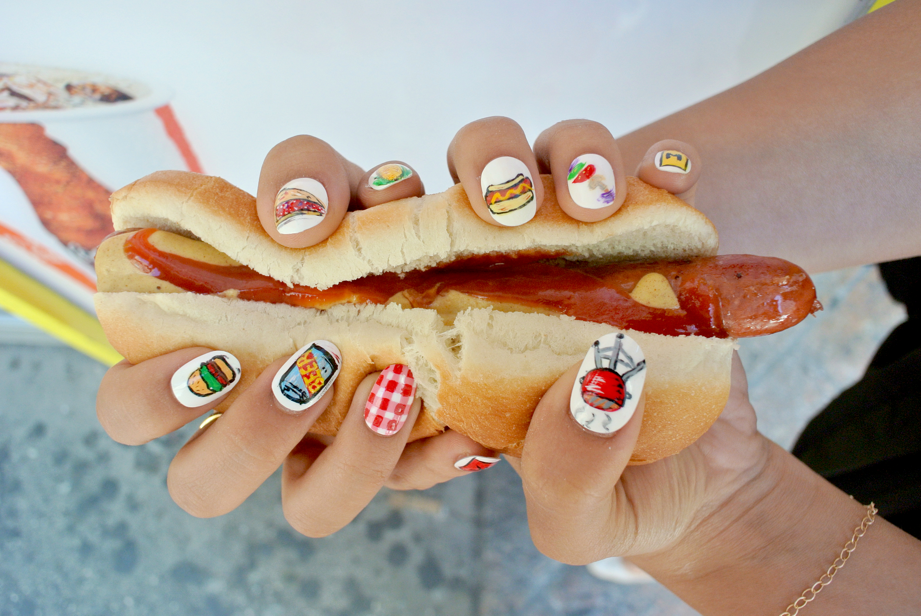 Fast Food Afternoon Romp: Check Out Jess\' Picnic Nails! - Food Republic