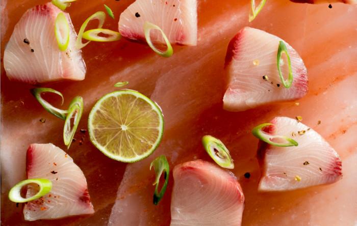 salt block sashimi