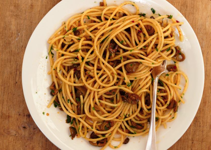 Spaghetti With White Puttanesca Recipe