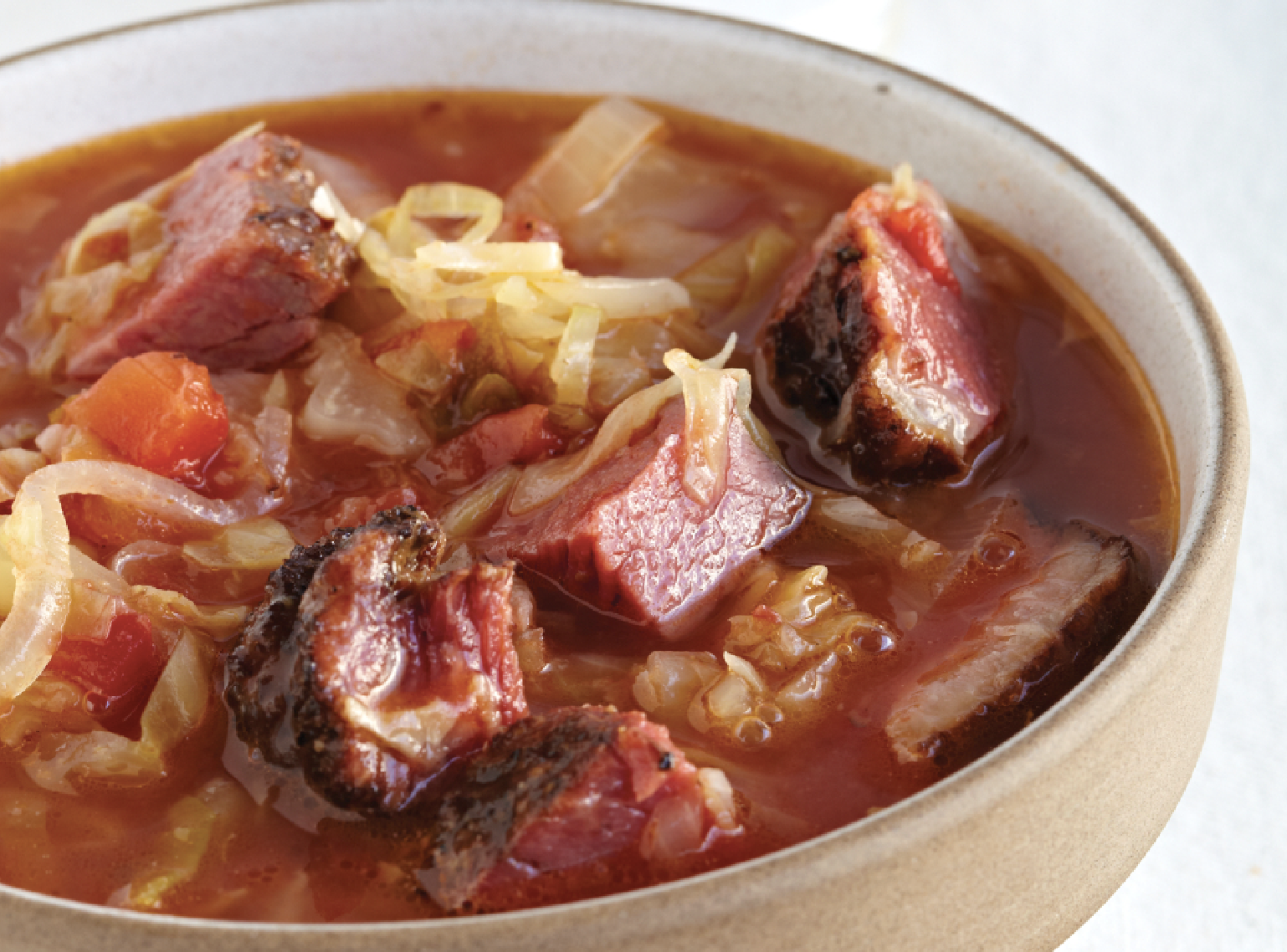 Autumn Cabbage And Smoked Meat Borscht Recipe Food Republic