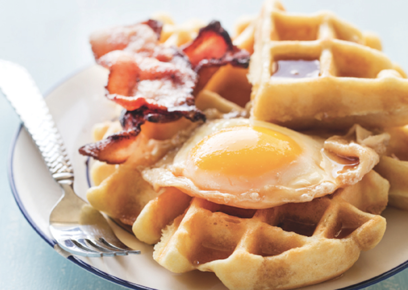 Maple Syrup–Poached Eggs And Waffles Recipe