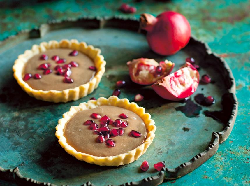 Vietnamese Coffee Tart With Fresh Pomegranate Recipe - Food Republic