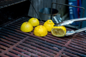 Grill the lemons
