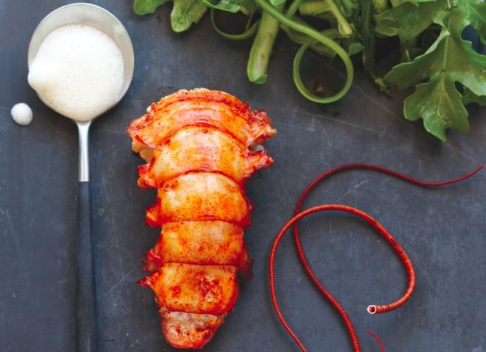 lobster and arugula salad