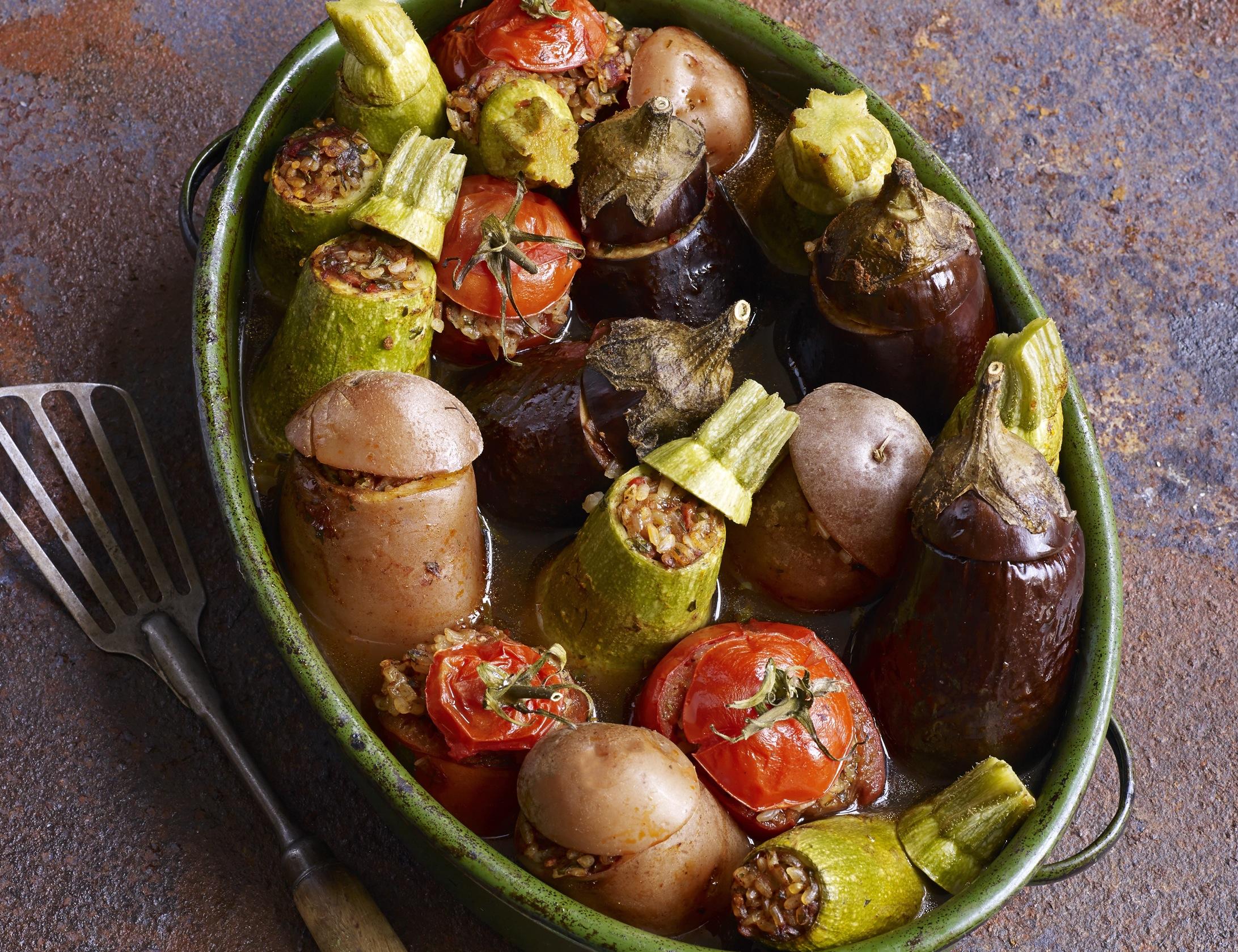 Vegetarian Stuffed Vegetables Recipe