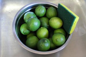Scrub the limes