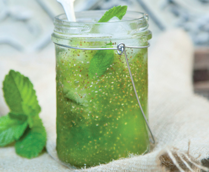 Refreshing summer drink featuring chia seeds. (Photo: Julie Morris.)