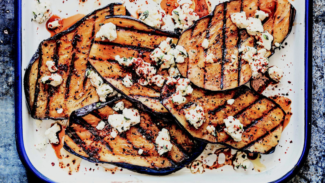 Our 20 favorite middle eastern recipes of all time food republic grilled eggplant with feta and pomegranate molasses recipe lebanese forumfinder Images