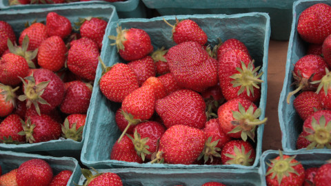 Strawberries are among the many fruits and vegetables in season at markets around the country.