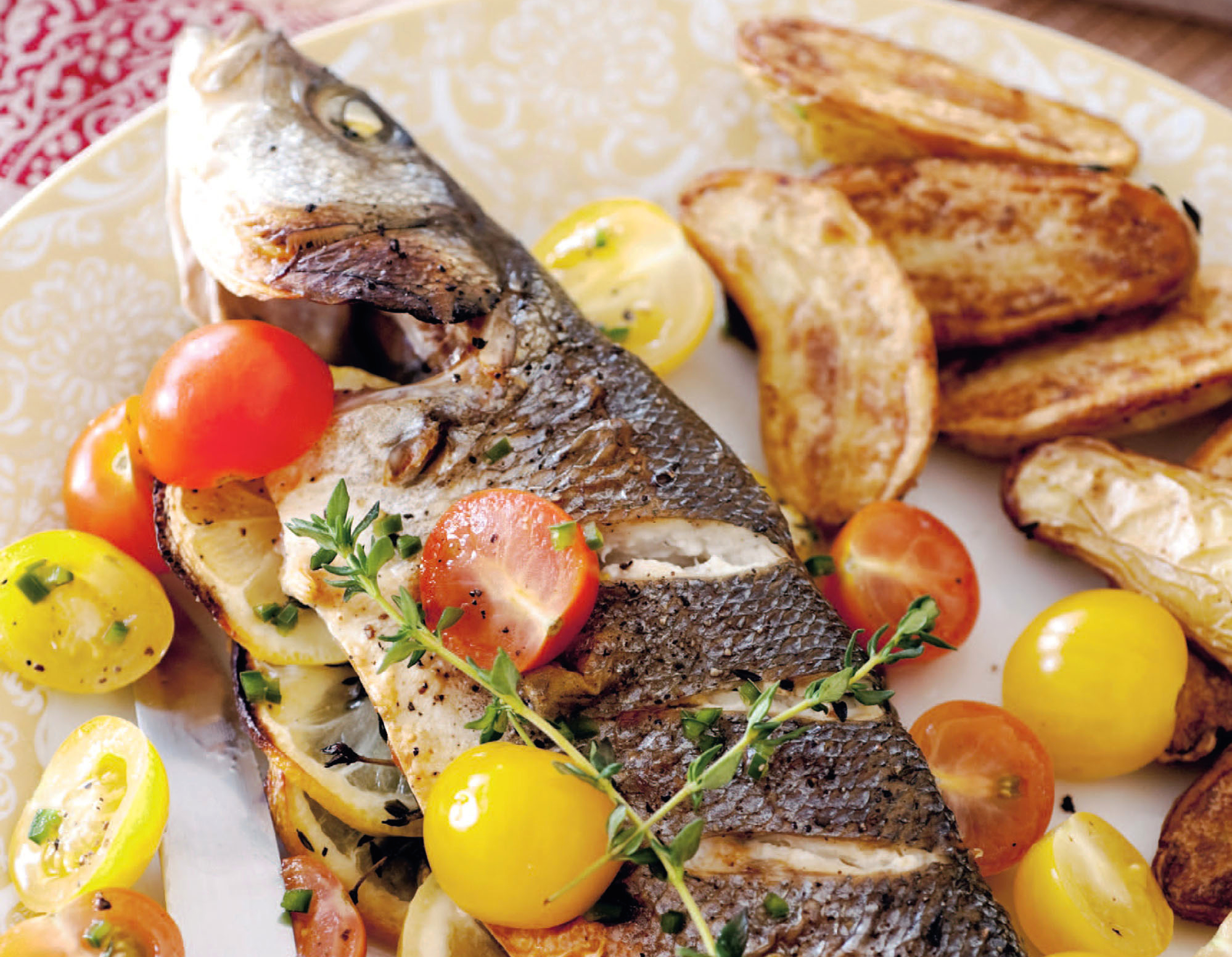 Greek-Style Fish With Marinated Tomatoes Recipe