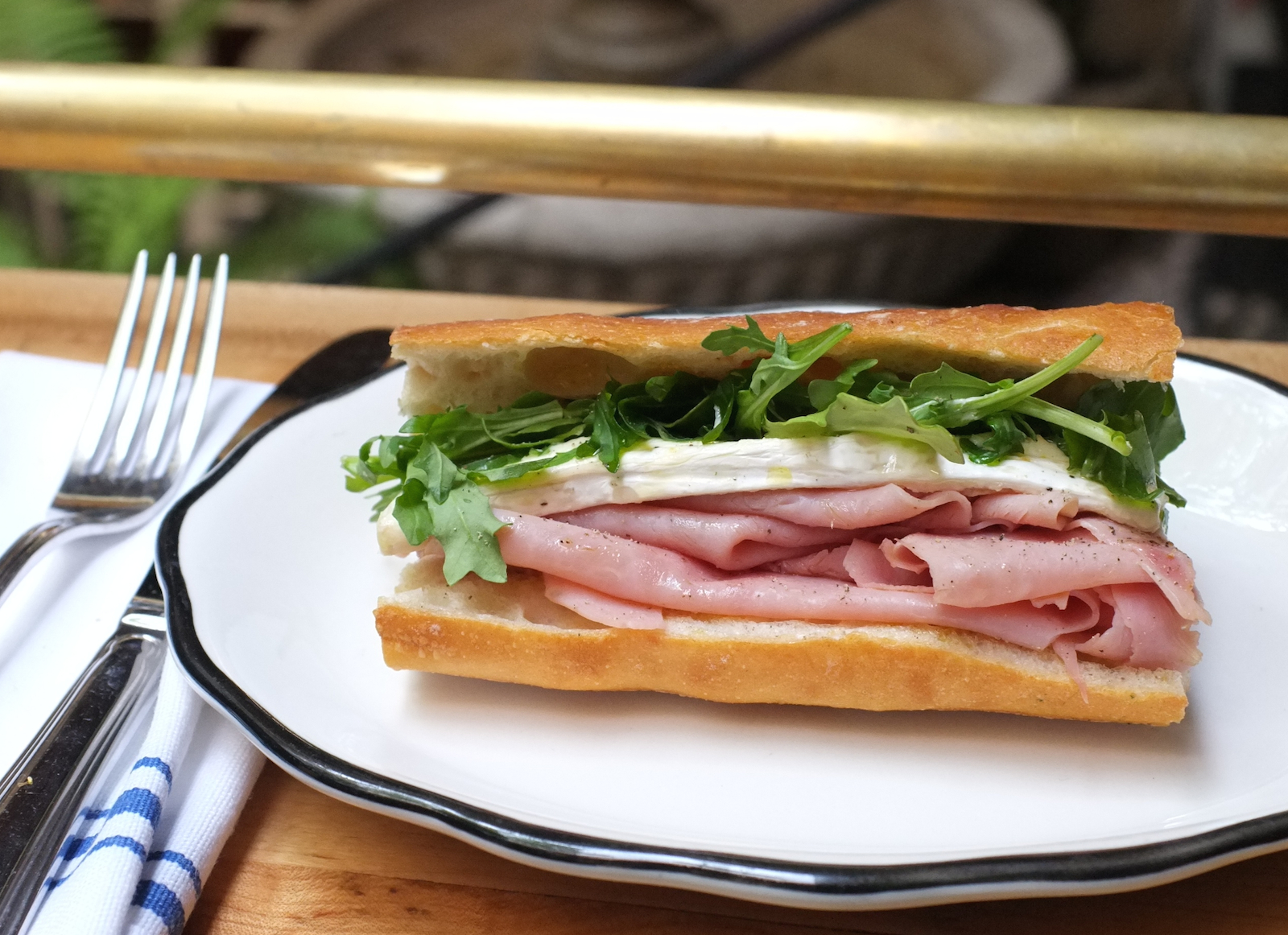 Go French Ham Baguette With Camembert And Arugula Recipe Food Republic