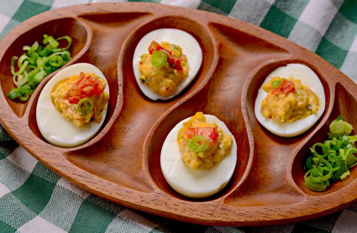 kimchi deviled eggs recipe
