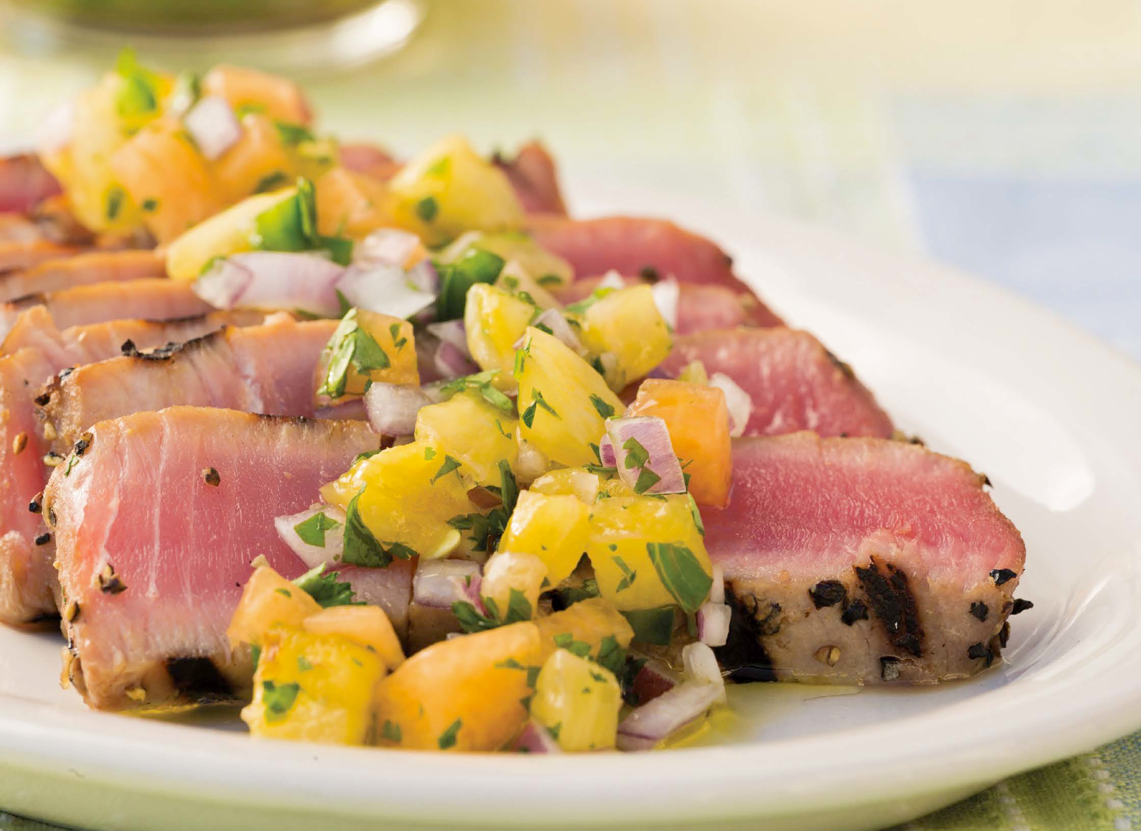 Grilled Fish Go To Peppered Ahi Tuna Recipe Food Republic