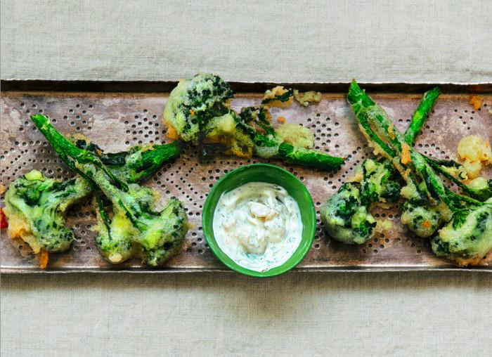 battered broccoli tempura