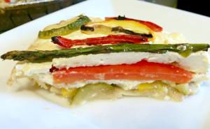 summer vegetable ricotta pie