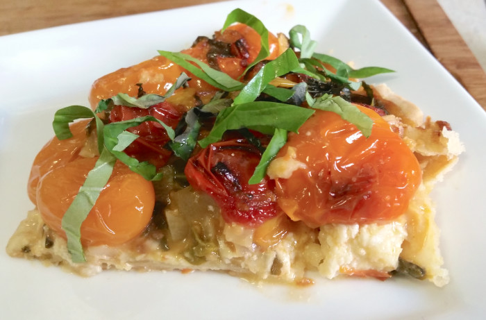 Spicy Italian Tomato Pie With Burrata Recipe
