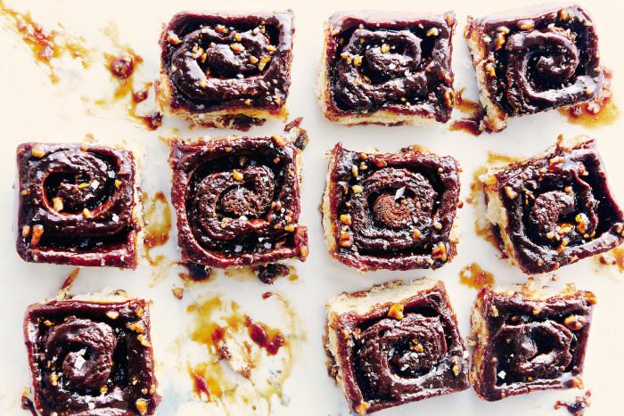 Burnt Caramel And Sea Salt Sticky Buns Recipe