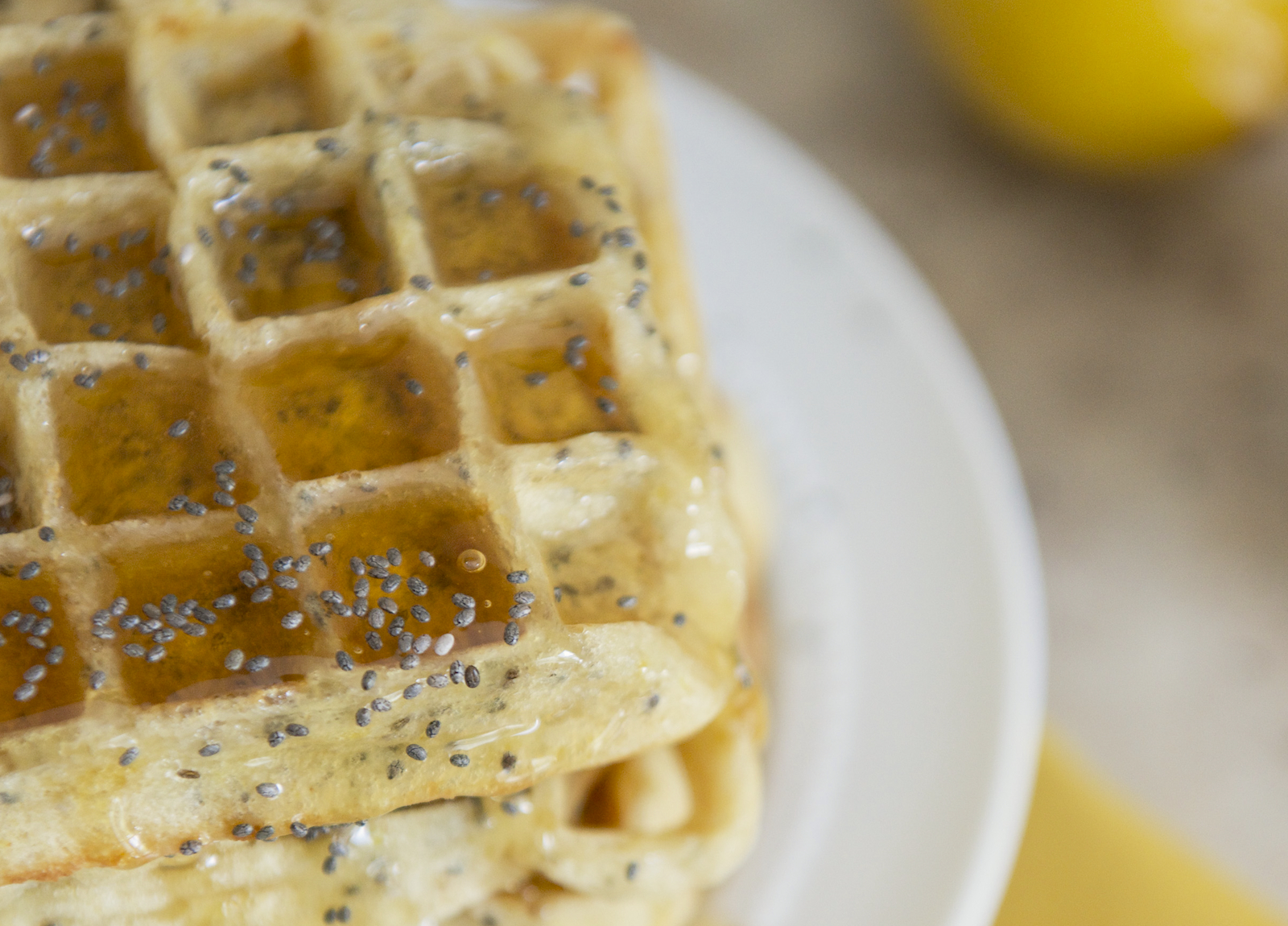 Lemon-Chia Seed Waffles Recipe