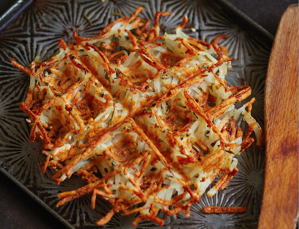 Waffled Hash Browns With Rosemary Recipe