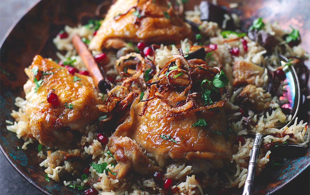 Our 20 favorite middle eastern recipes of all time food republic honeyed chicken and eggplant biryani recipe forumfinder Gallery