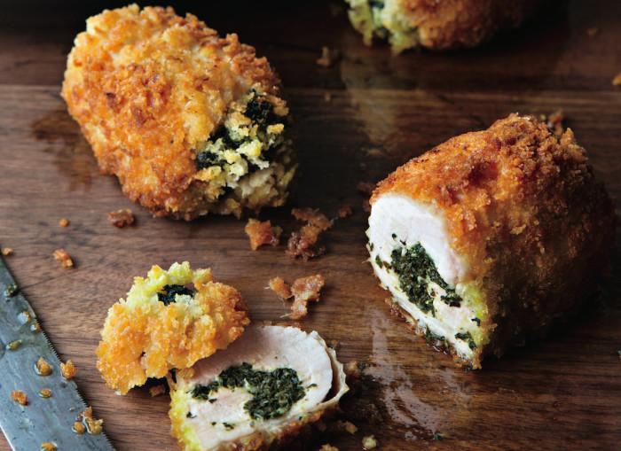 chicken kiev with kale recipe