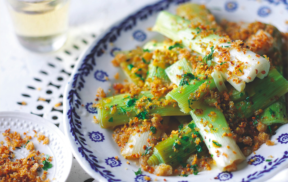 20 vegetarian easter recipes for your table food republic leeks with spicy pollen breadcrumbs recipe forumfinder Choice Image
