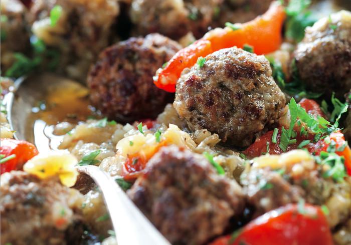beef and eggplant meatballs